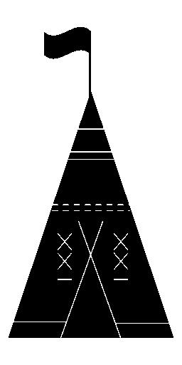 フラグ無料アイコンとアフリカの部族のテント