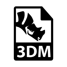 3 DM ファイル形式無料アイコン
