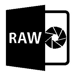 RAW ファイルを開く形式無料アイコン
