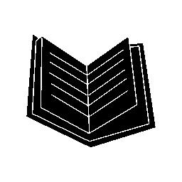 本黒い開いたページ無料アイコン