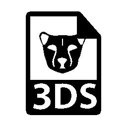 3 ds ファイル形式シンボル無料アイコン