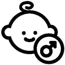 赤ちゃんの男性の顔の無料のアイコン