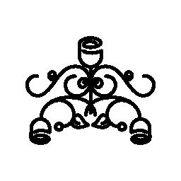 花の複雑な対称デザイン無料のアイコン