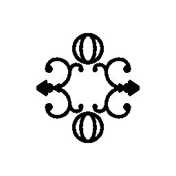球し、渦無料のアイコンを 2 つの花のデザイン