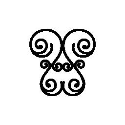 花螺旋対称デザイン無料のアイコン