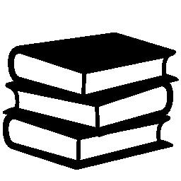 3 つの無料のアイコンの書籍のスタック