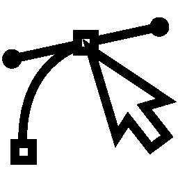 ポインターの矢印の無料アイコンのベクター スケッチ