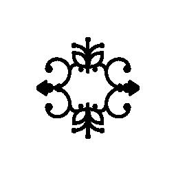 対称的な繊細な花柄無料アイコン