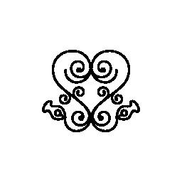 観賞用花のデザイン無料のアイコンに渦巻きの中心部