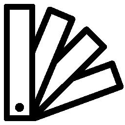長方形の部分のカタログ概要無料アイコン