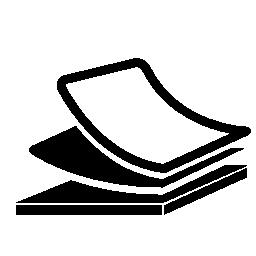 文房具積み上げ論文無料アイコン
