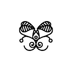 無料蝶のアイコンのような花のデザイン