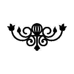 ビンテージ スタイルの無料アイコンの花柄のデザイン