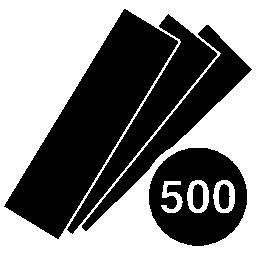 500 のカタログ無料のアイコンを色します。