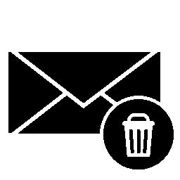 ごみ箱の記号の無料アイコンと封筒