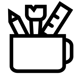 カップ無料アイコン内部オフィス用品