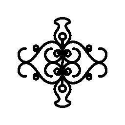 対称無料アイコンで対称図形と花の観賞用デザイン