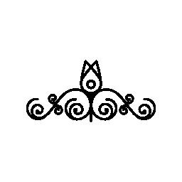 螺旋対称性無料のアイコンの上に 1 つの花の花のデザイン