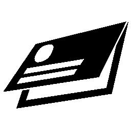 2 つ折り二連祭壇画のデザイン無料のアイコンのビジネス カード