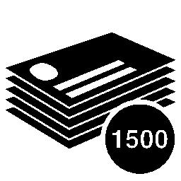 1500 印刷無料アイコンのビジネス カードのひな形スタック