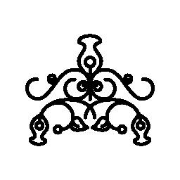 ビンテージ複雑な花柄の装飾デザイン無料のアイコン