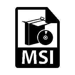 MSI ファイル形式のシンボル無料アイコン