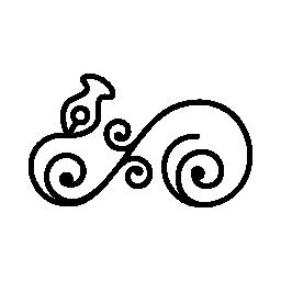 非対称形状の無料アイコンの花柄のデザイン