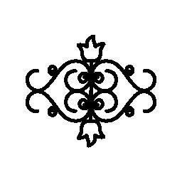 花のミラー イメージ デザイン無料のアイコン