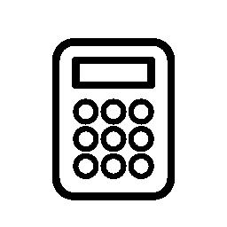 電卓の概要バリアント無料アイコン