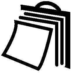 ページの無料のアイコンを反転ウォール カレンダー