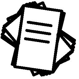 紙印刷スタック無料アイコン