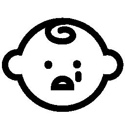 赤ちゃんの顔泣いている無料のアイコン