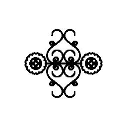 花ツル ミラー効果デザイン無料のアイコン
