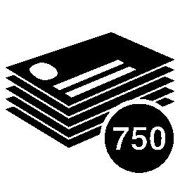ビジネス カード スタック 750 個無料アイコン