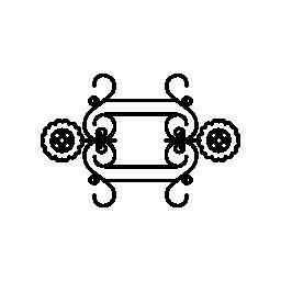 対称図形無料アイコンの花柄のデザイン
