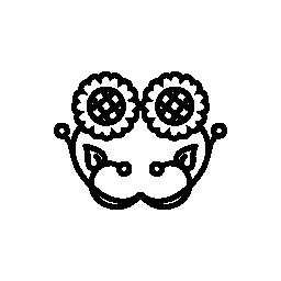 対称無料アイコンの花のカップル