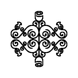 対称無料アイコンと複雑な花柄