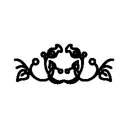対称無料アイコンに対称形の花のデザイン