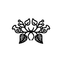 複雑な対称無料アイコンと花柄のデザイン