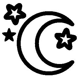 月と星の無料アイコン