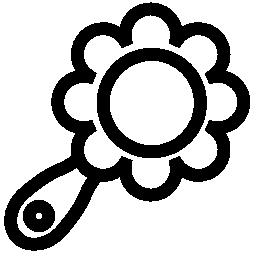 花の形の無料アイコンのガラガラ