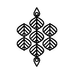 花のデザイン無料のアイコンの葉グループ
