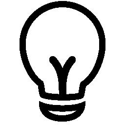 概要無料の電球アイコン