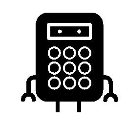 手と足と電卓バリアント無料アイコン