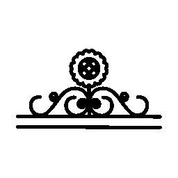ブドウの木枠無料アイコンとひまわりデザイン