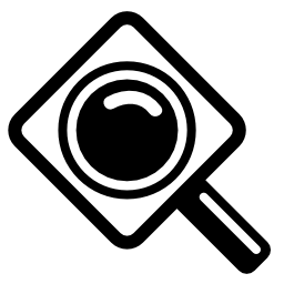 無料のアイコンを印刷するためのレンズ拡大鏡