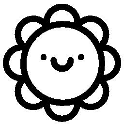 花の笑顔の無料アイコン