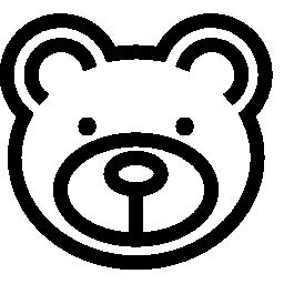 クマの顔無料アイコン