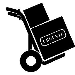 プリント ボックスの交通機関の無料アイコン
