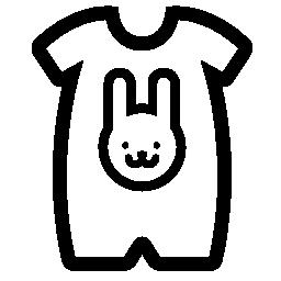 赤ちゃん布ウサギの頭部概要無料のアイコンを